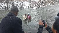 Winter Baptism in Rome #2